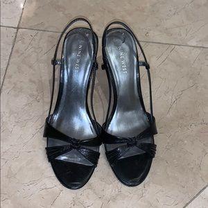 Nine West Shoes - Nine West black sandal heels